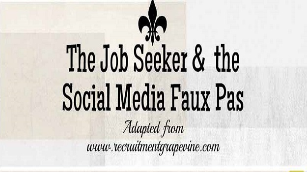 The Job Seeker & the Social Media Faux Pas
